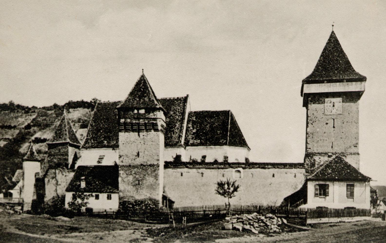 Waldhüttener Kirchenburg vor 1916
